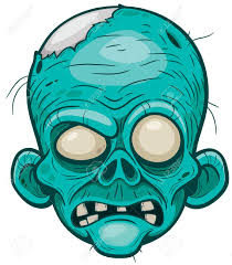 Vector Illustration Of Cartoon Zombie Face In 2021 Zombie Cartoon Zombie Drawings Zombie Art