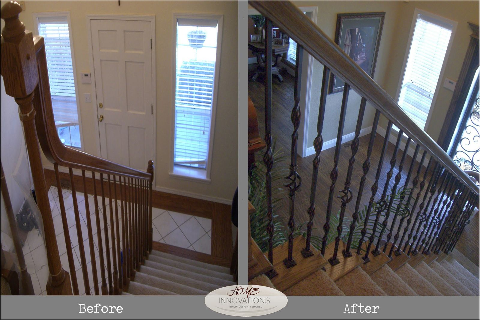 Best Rod Iron Stair Balusters Distressed Wood Floors Home 400 x 300