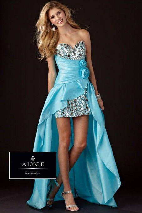 CUTE Turquoise Strapless Hi-Lo Dress - Prom Dresses - Alyce Paris ...