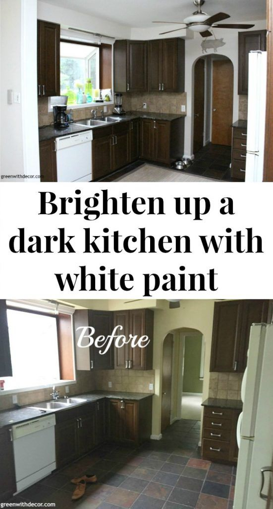The Painted Kitchen Aesthetic White A Great Off Paint Color To Brighten Up Dark Love How It Looks Against Granite Counters