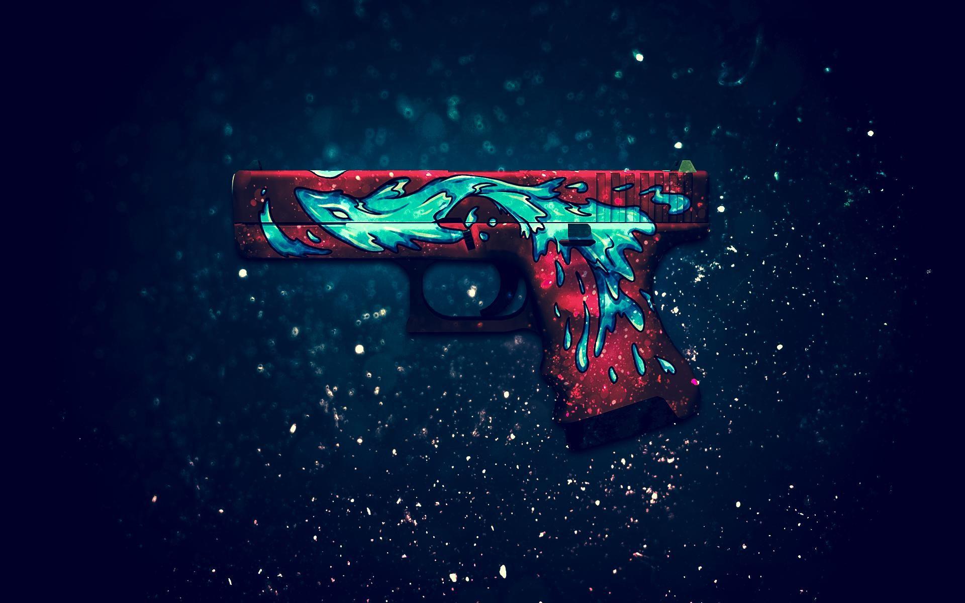 Glock 18 Water Elemental Computer Wallpapers Desktop Backgrounds