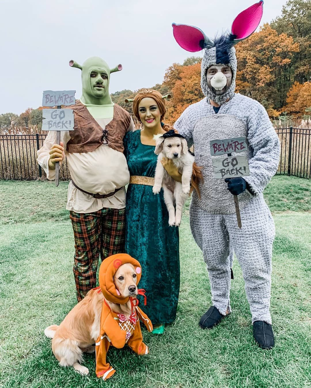 Nhlpa On Instagram That Ll Do Donkey That Ll Do Teamwork Makes The Dream And The Costumes Work For The Rust Hockey Halloween Bryan Rust Shrek Costume