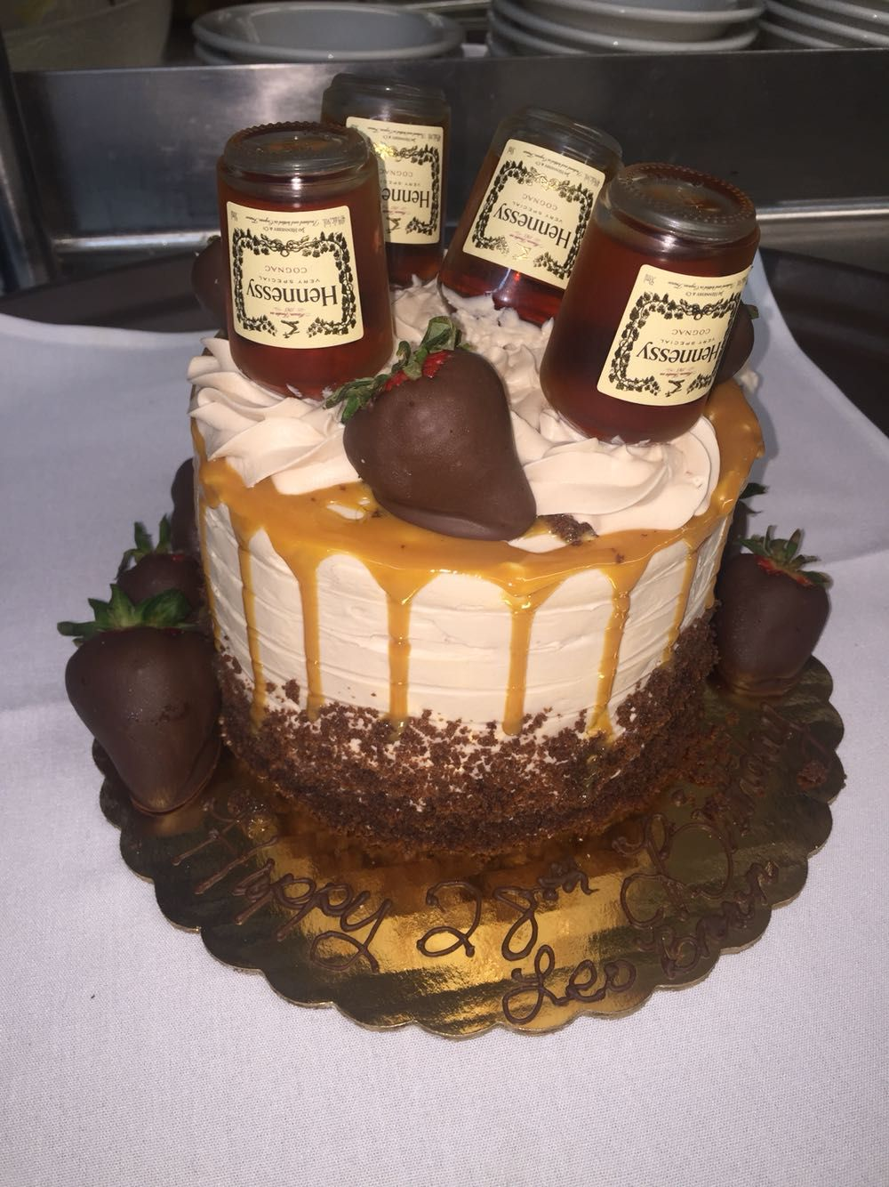 Check Out This Hennessy Cake Y All