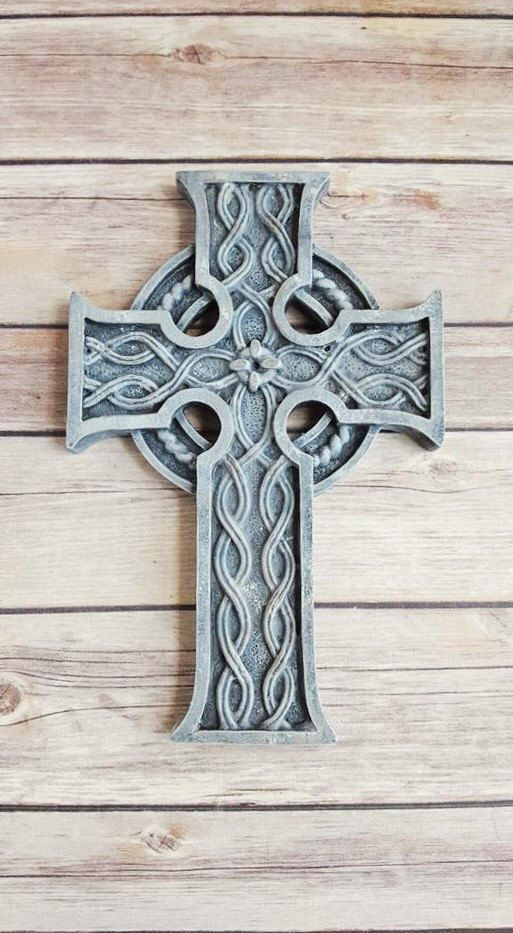 A personal favorite from my Etsy shop https://www.etsy.com/listing/466680547/celtic-cross-wall-decor-stone-grey