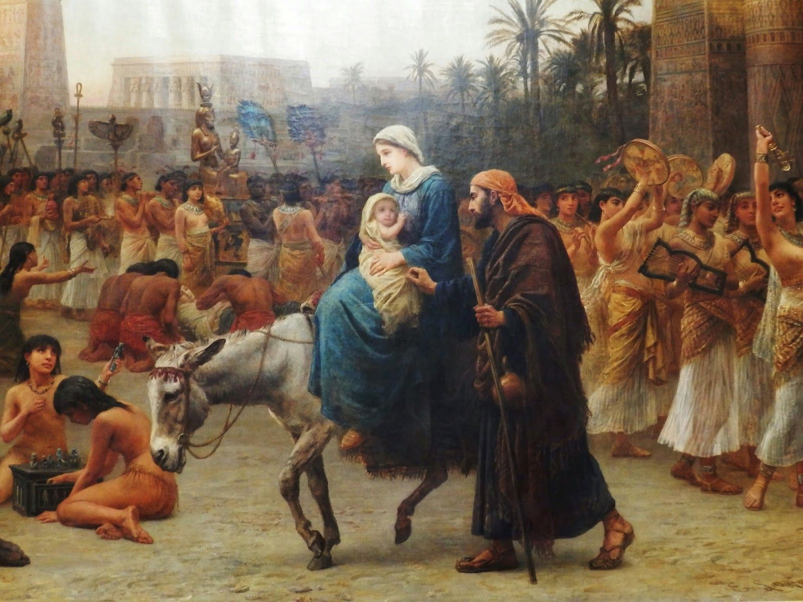 The painting Anno Domini (also known as The Flight To Egypt.) by Edwin Long