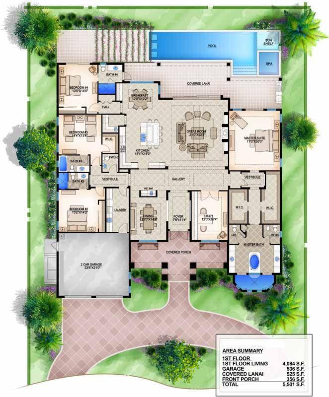 Main Floor Plan Mediterranean Style House Plans Monster House Plans Mansion Floor Plan