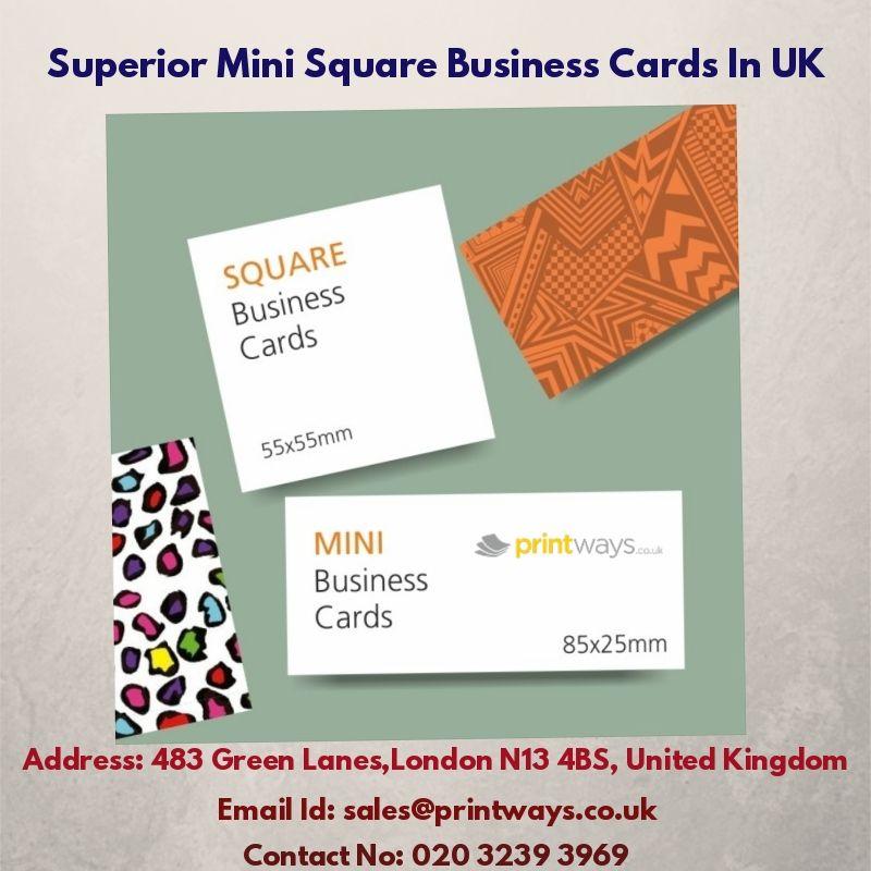 Superior Mini Square Business Cards In Uk Mini Business Card Square Business Cards Business Cards Uk