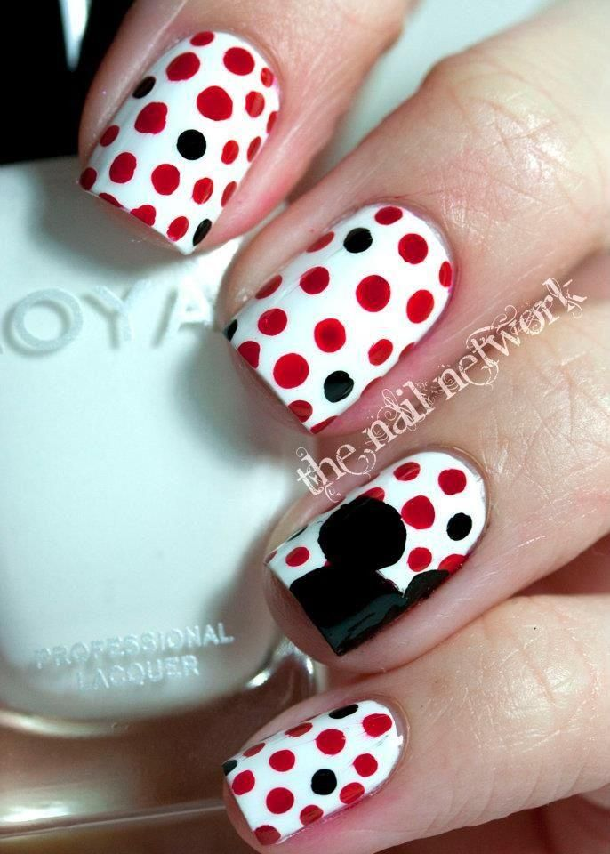 Puntos mickey | Nails | Pinterest | Puntos