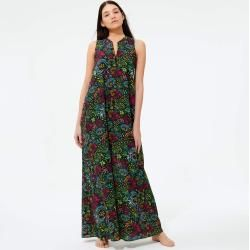 Photo of Women Ready to Wear – Women Long Linen Cotton Dress Evening Birds – Cover Up – Feather – Black – X