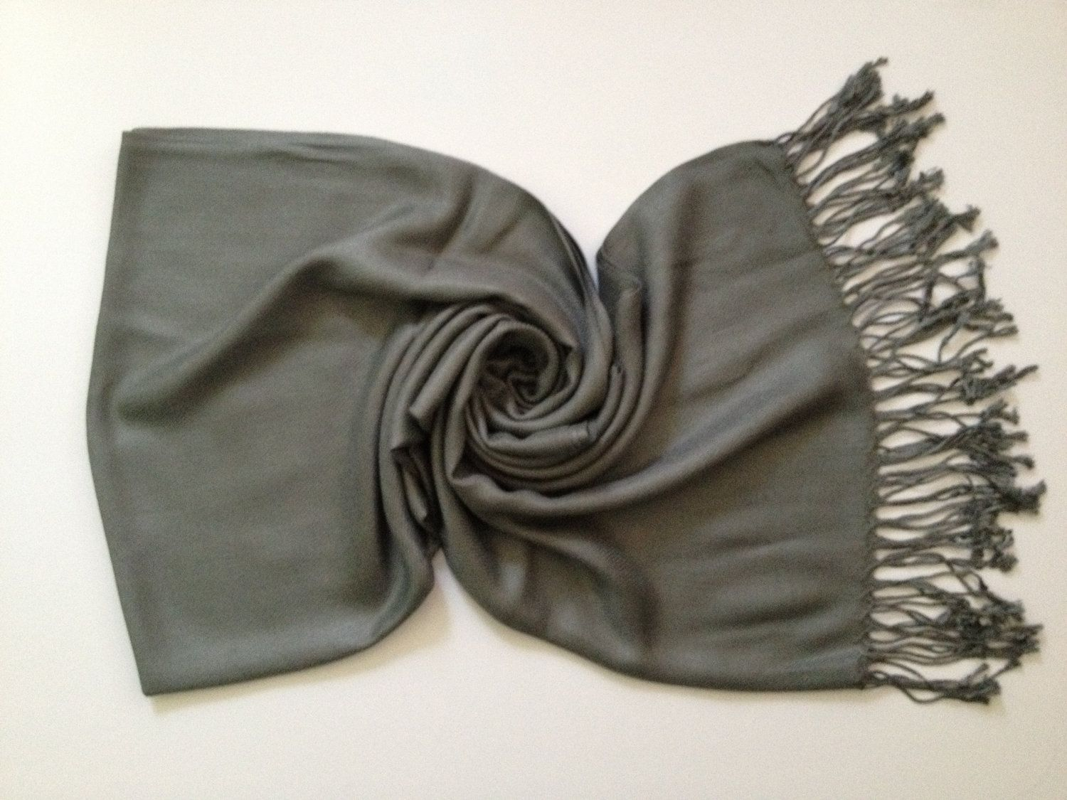 Gray Pashmina Scarf for me
