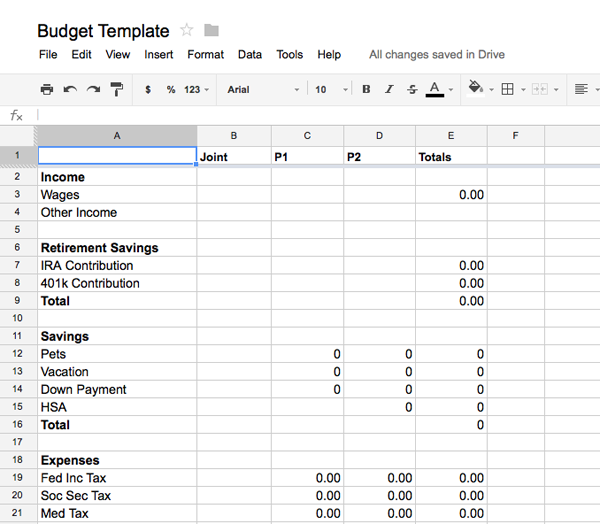 Budget Template Using Google Docs How To Budgeting Budget Template Sample Resume