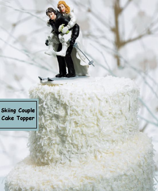 Other options for winter wedding cake toppers include things such as snow globes, wooden or metal sleds, and even crystal winter scenes.