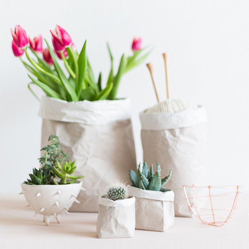 Kraft Paper Bag Of Vase Flowers Vase Paper Bag Flowers Paper