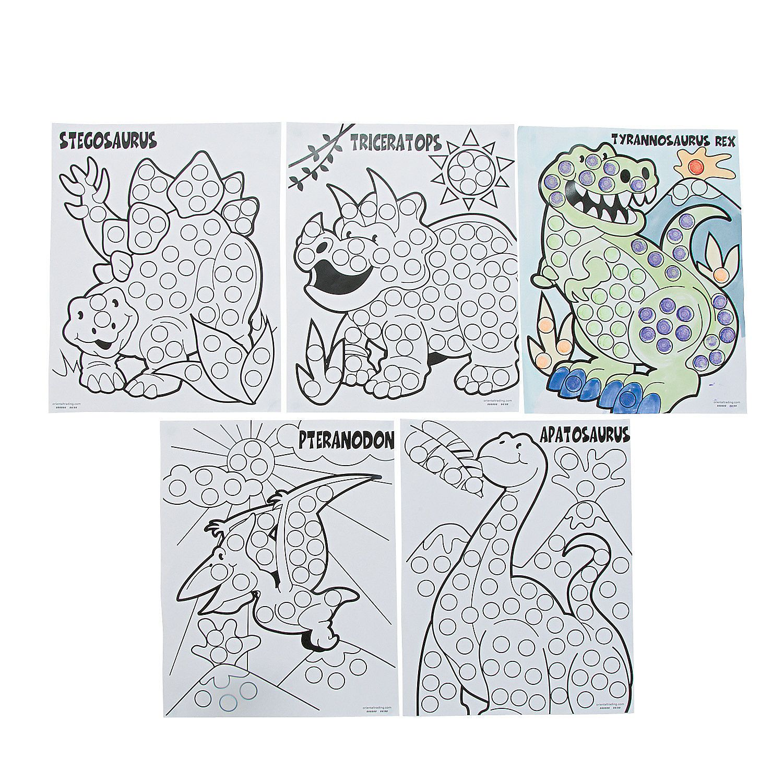 Dinosaur Dot Marker Sheets Orientaltrading