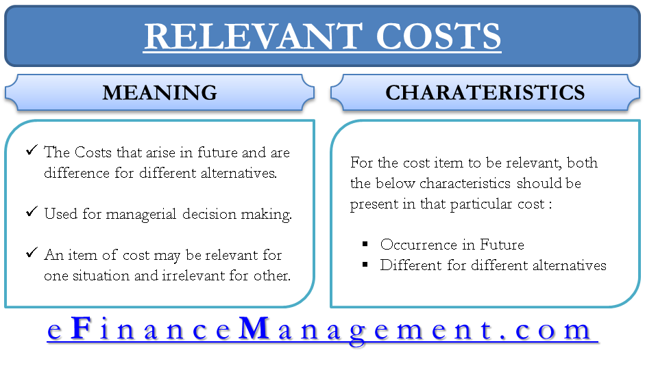 Relevant Costs Accounting And Finance Financial Management