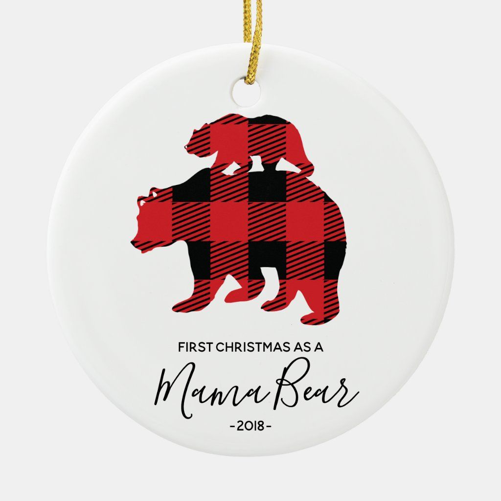 First Christmas as Mama Bear Christmas ornament