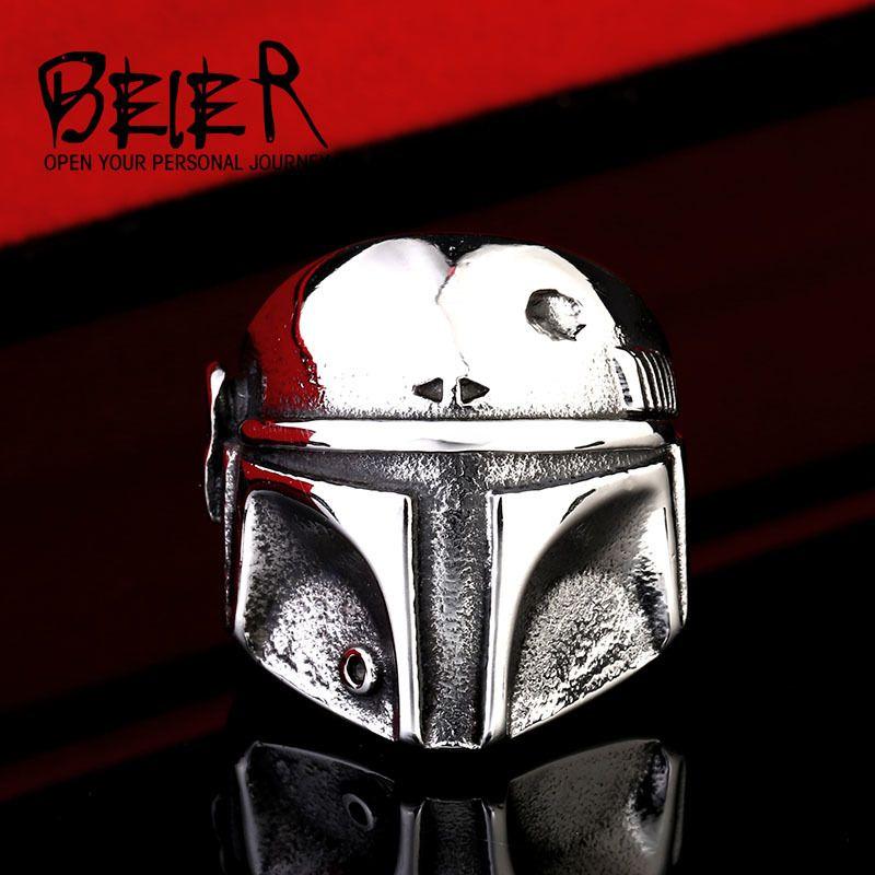 Beier nueva tienda de anillo de acero inoxidable 316l de calidad superior nuevo star wars clone tormenta máscara de joyería de moda anillo br8-293