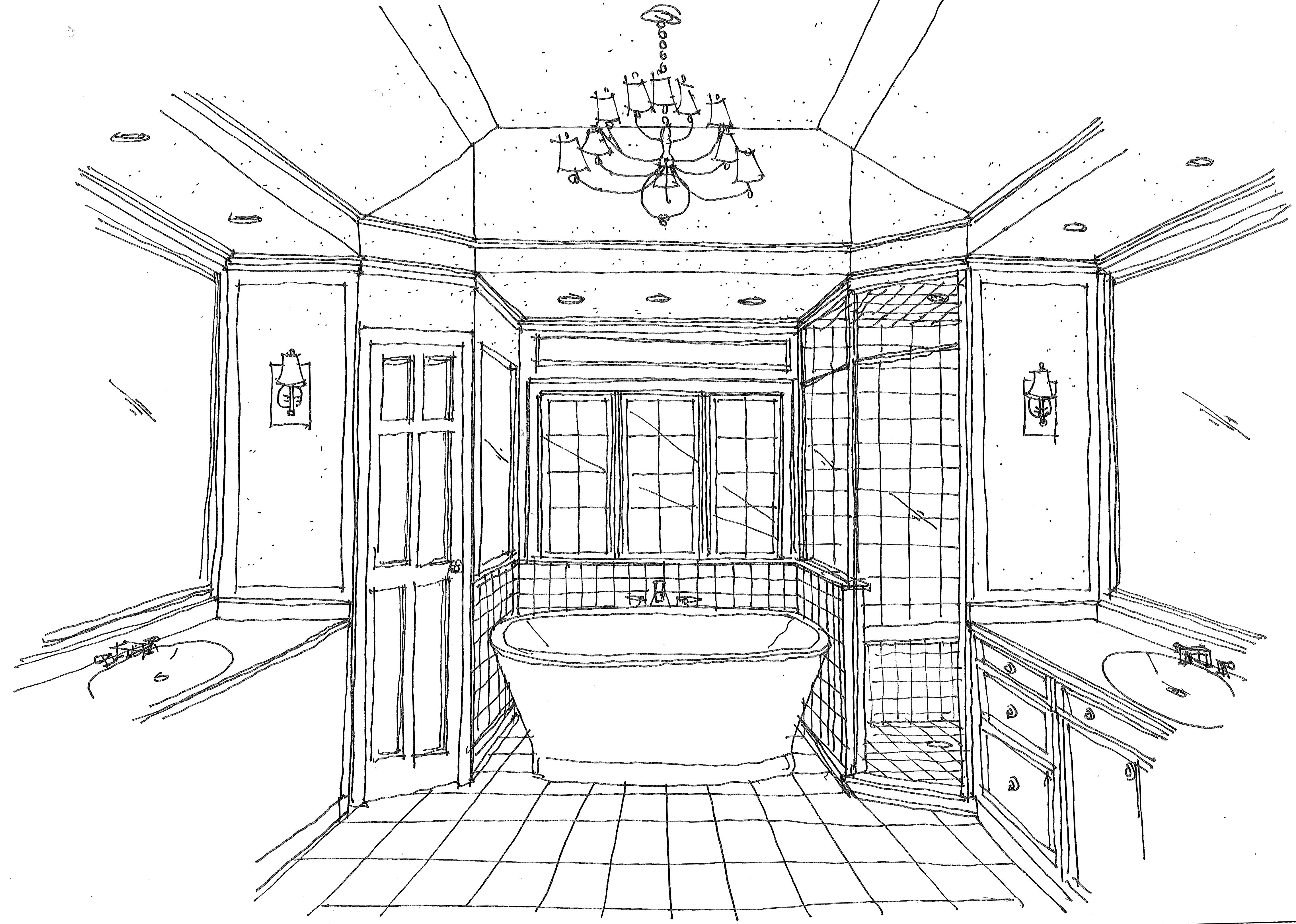 Sketch For Master Bath Renovation Architecture Bathroom Home Design Plans Home Interior Design