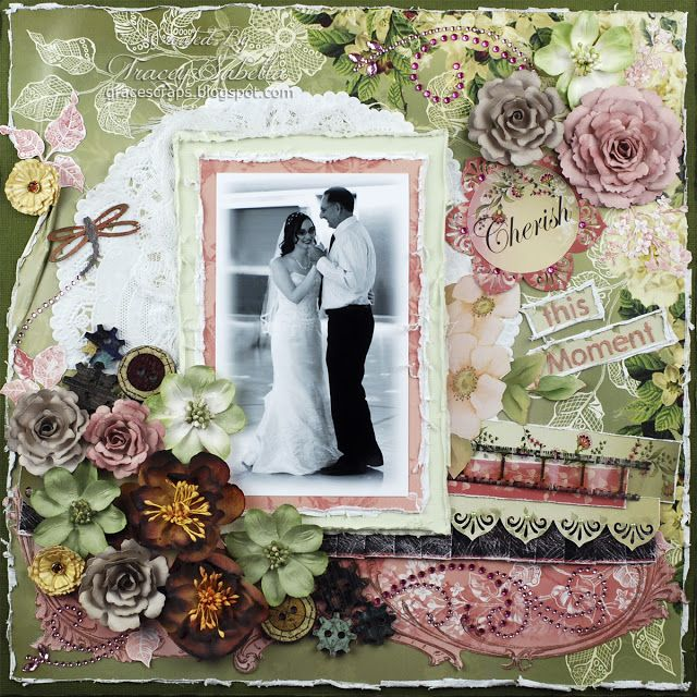 """Cherish this Moment"" ScrapThat! March ""New Blooms"" Kit by Tracey Sabella"