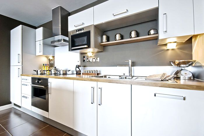 Bianco high gloss white in stock kitchen cabinets by for White gloss kitchen units cheap