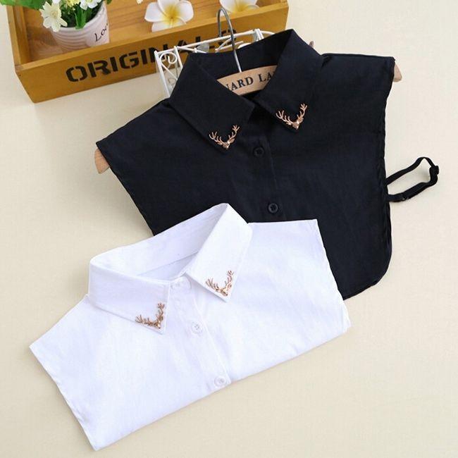Women False Collar Detachable Lapel Half Shirt Blouse Bib Choker Cotton Necklace