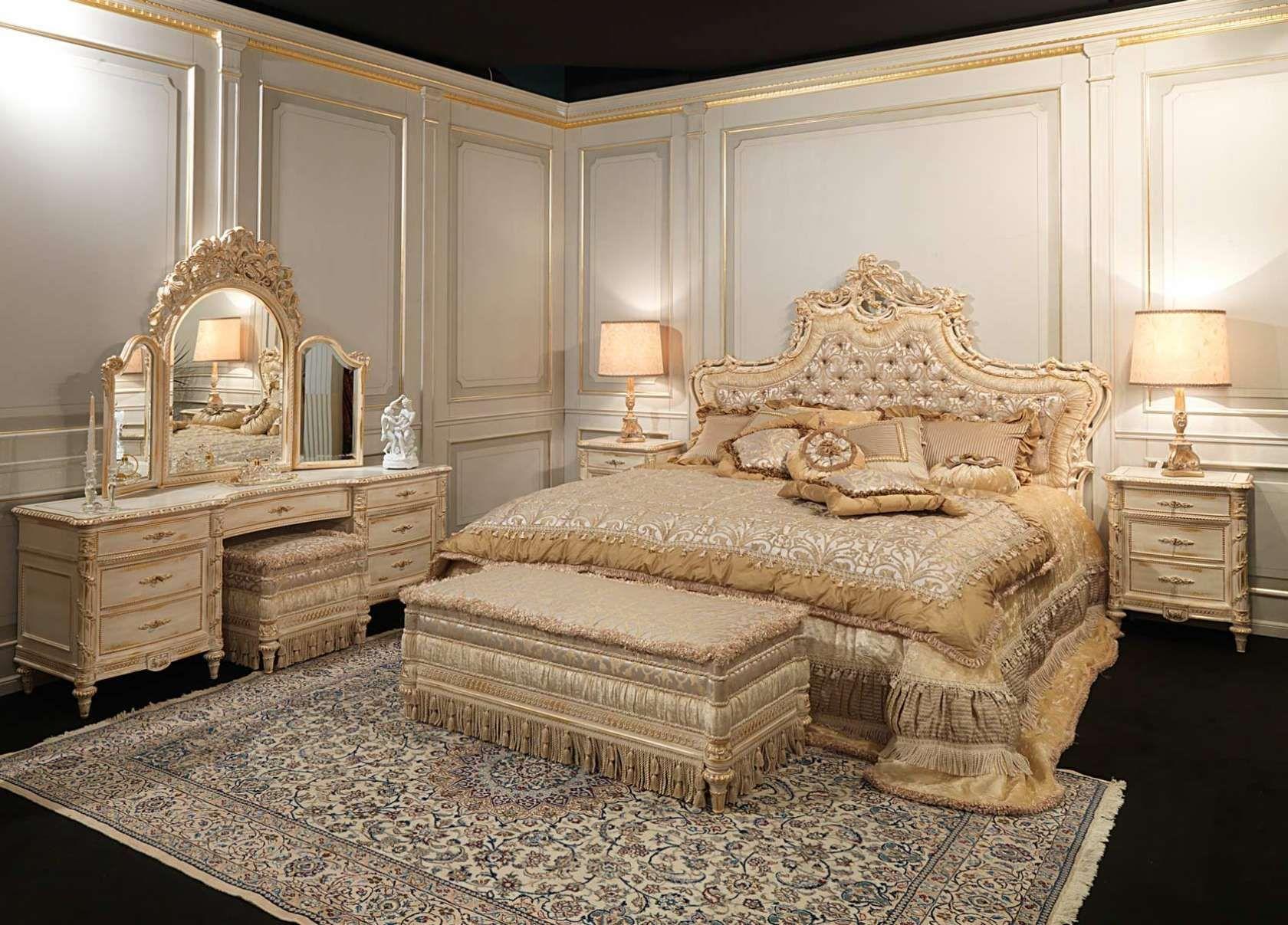 Camera classica di lusso, stile Luigi XVI White and Gold | Vietnam ...