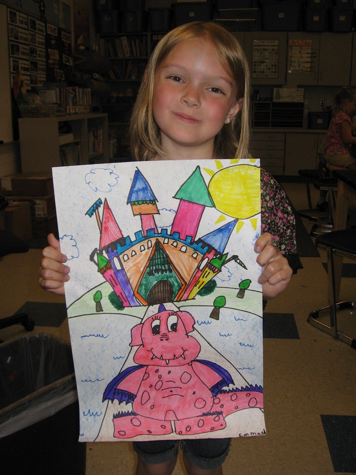 Jamestown Elementary Art Blog 1st Grade Dragons And Castles