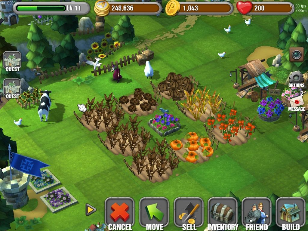 Don't ignore your farms in Knightly Adventure. They need