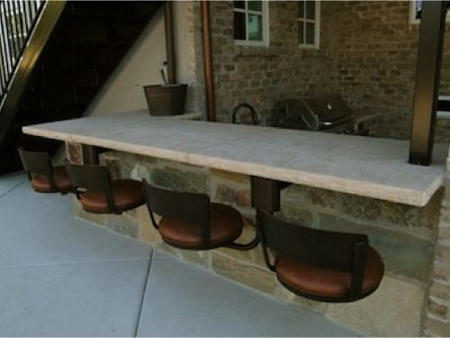 Very Interesting Suspended Bar Seating Oil Rubbed