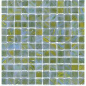 Elida Ceramica�12-1/2-in x 12-1/2-in Sea Glass Mosaic Square Wall Tile (Actuals 12-1/2-in x 12-1/2-in)