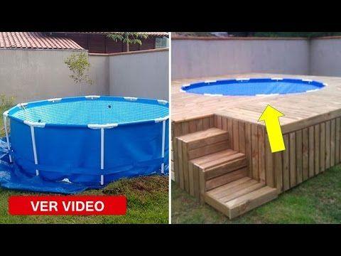 Como enterrar una piscina desmontable youtube piscinas for Construir una piscina en un patio pequeno