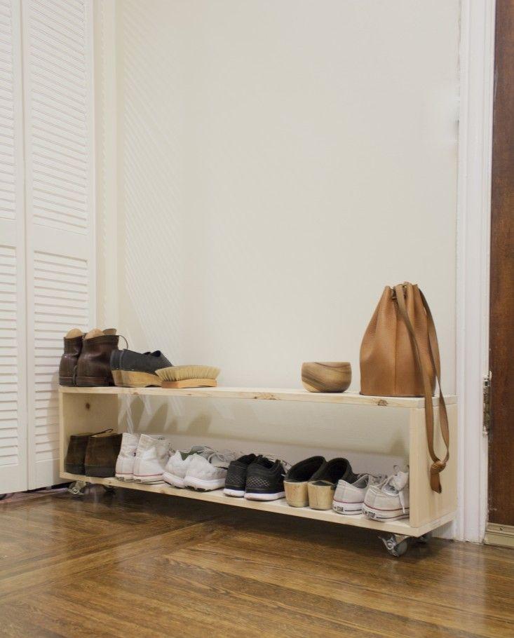 Small Space Diy A Perfect Shoe Rack For A Narrow Entryway Diy