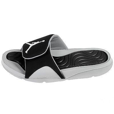7302fc84b3c2c Nike Jordan Hydro 4 IV Mens 705163-004 Grey Black Slide Sandals Slides Size  9