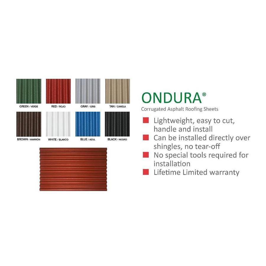 Ondura 4 Ft X 6 58 Ft Corrugated Gray Asphalt Roof Panel Lowes Com Roof Panels Corrugated Roofing Asphalt Roof