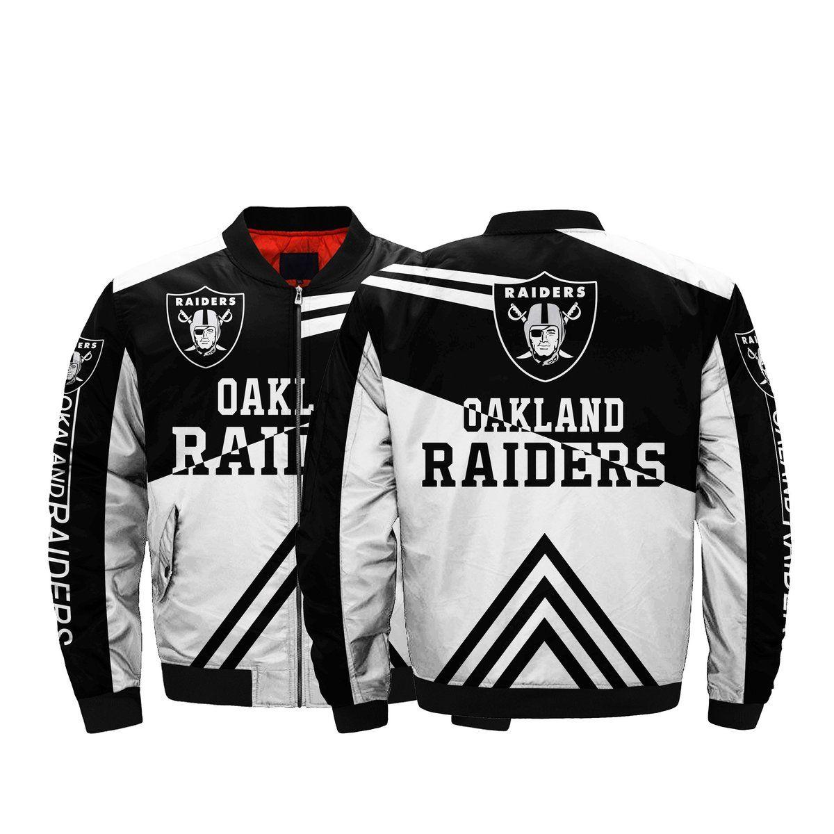 Lower Price Nfl Jacket Men Oakland Raiders Bomber Jacket For Sale Bomber Jacket Winter Mens Jackets Bomber Jacket [ 1200 x 1200 Pixel ]