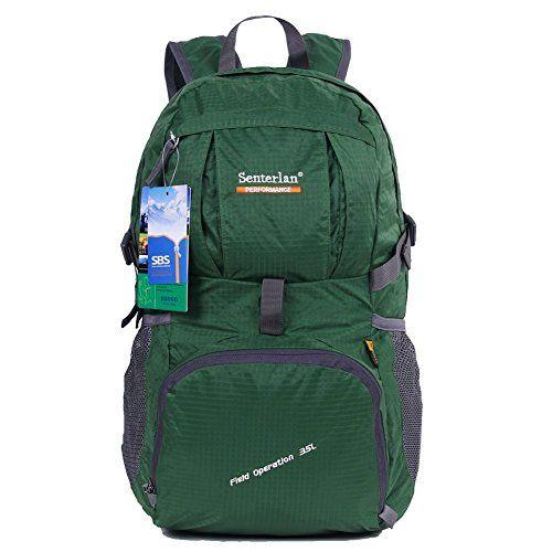 Hiking Backpack Daypack Lightweight Waterproof Multifunctional for Women Men 35L