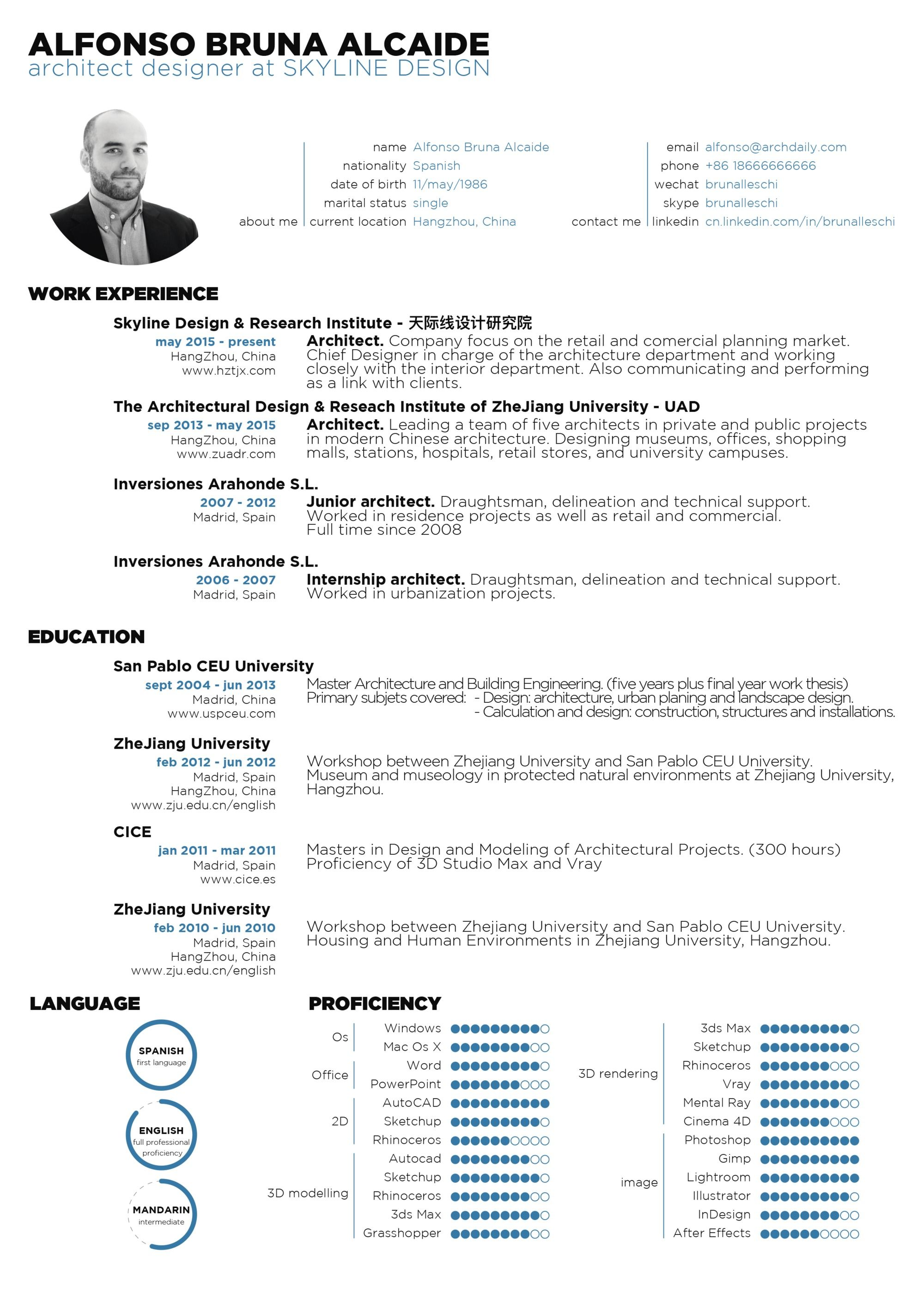 Building Engineer Resume Gallery Of The Top Architecture Résumécv Designs  9  Portfolio .