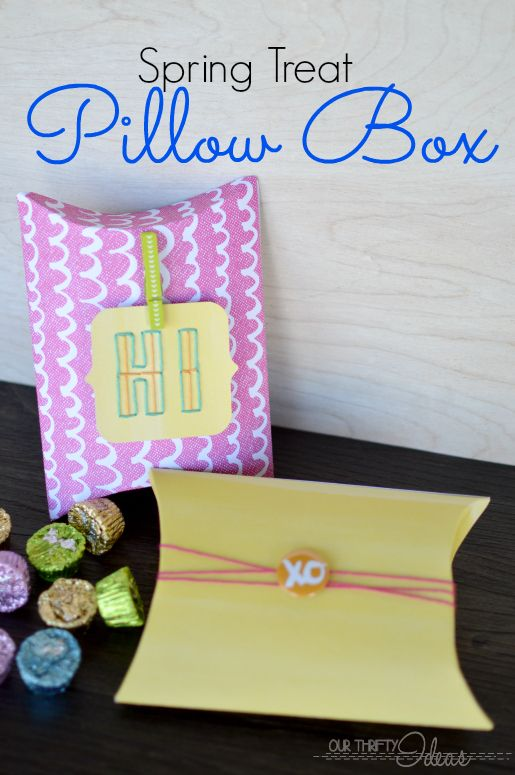 Cute spring gift idea. Make your own pillow box and fill with seasoned chocolates. & Cute spring gift idea. Make your own pillow box and fill with ... pillowsntoast.com