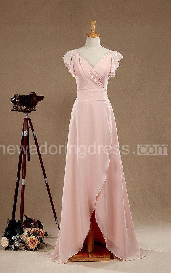 2018 Long Blush Bridesmaid Dress