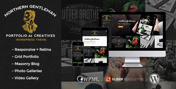 Northern Gentleman - Vintage Portfolio WP Theme | Wordpress ...