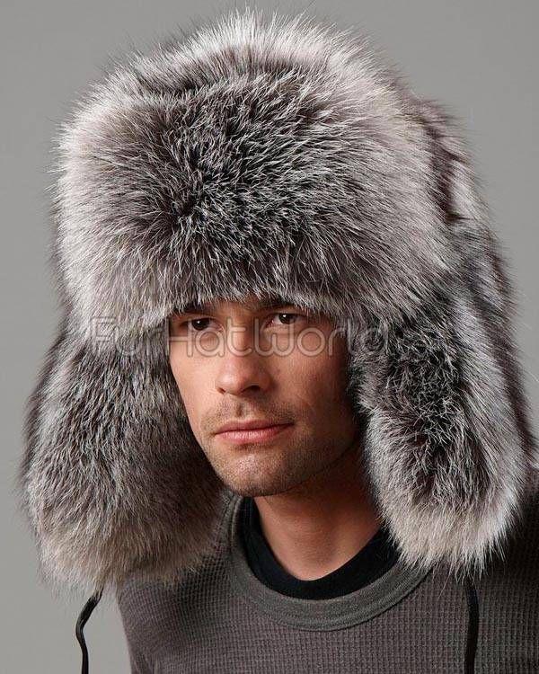 4f9e7df4c Silver Fox Full Fur Russian Hat for Men in 2019 | DIY Fox Hat ...
