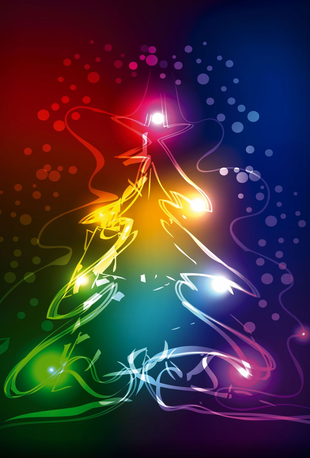 Christmas tree wallpaper, Merry