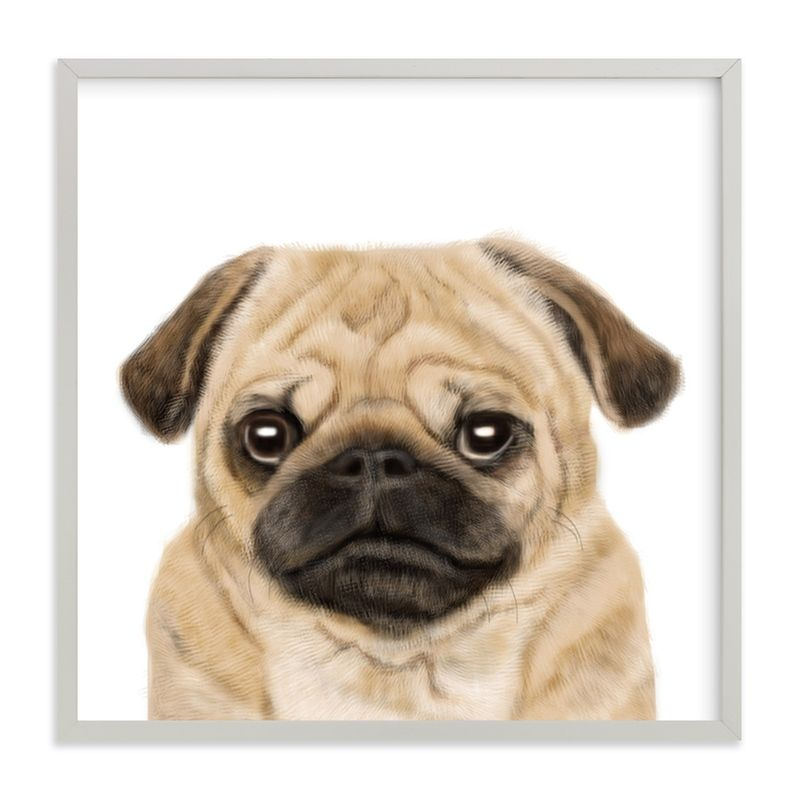Pug Marketplace Art Print In 2020 With Images Pug Art Print