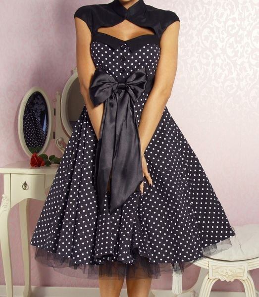 rockabilly kleid melena gepunktet von yourdesignerz auf n hen pinterest. Black Bedroom Furniture Sets. Home Design Ideas