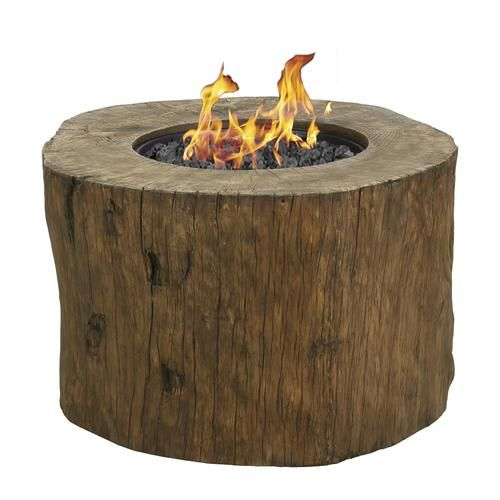 Terrafab Tree Stump Propane Gas Fire Pit Gas Firepit Outdoor Fire Pit Fire Pit