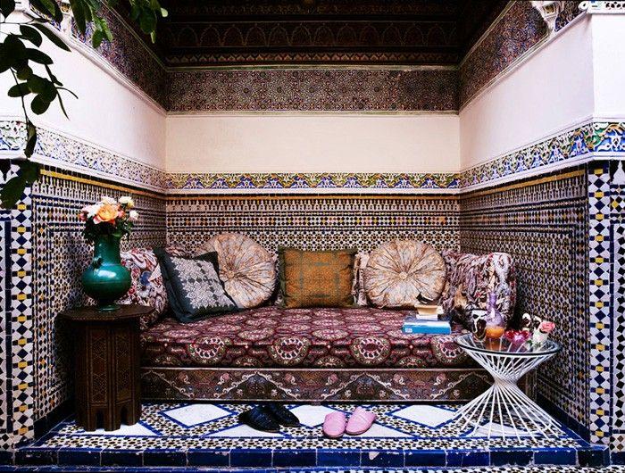 marokkanische fliesen zementfliesen interirdesign ideen wohnung - wandgestaltung gothic