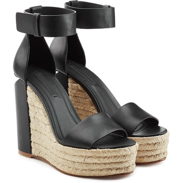 eastbay cheap price amazing price Alexander Wang Leather Espadrille Wedges outlet high quality 100% guaranteed online ebay sale online DDl4WrwFpn