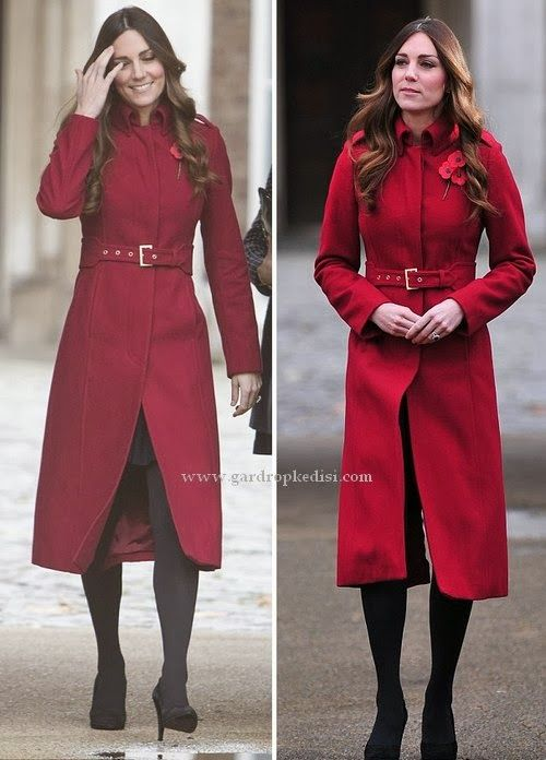 Kate Middleton Amy Red Coat