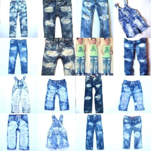 ebcfee546 Custom Made Distressed Denim Jeans, Overalls and Skinnies. Baby, Toddler,  Kids Destroyed Pants