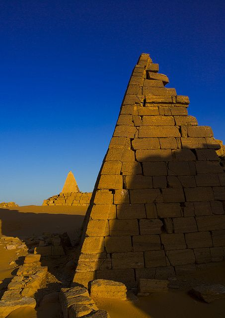 Pyramids And Tombs In Royal Cemetery Of Bajrawiya, Meroe, Sudan by Eric Lafforgue